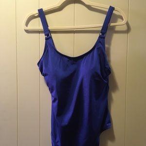 NWT Calvin Klein blue swimsuit swimwear one piece